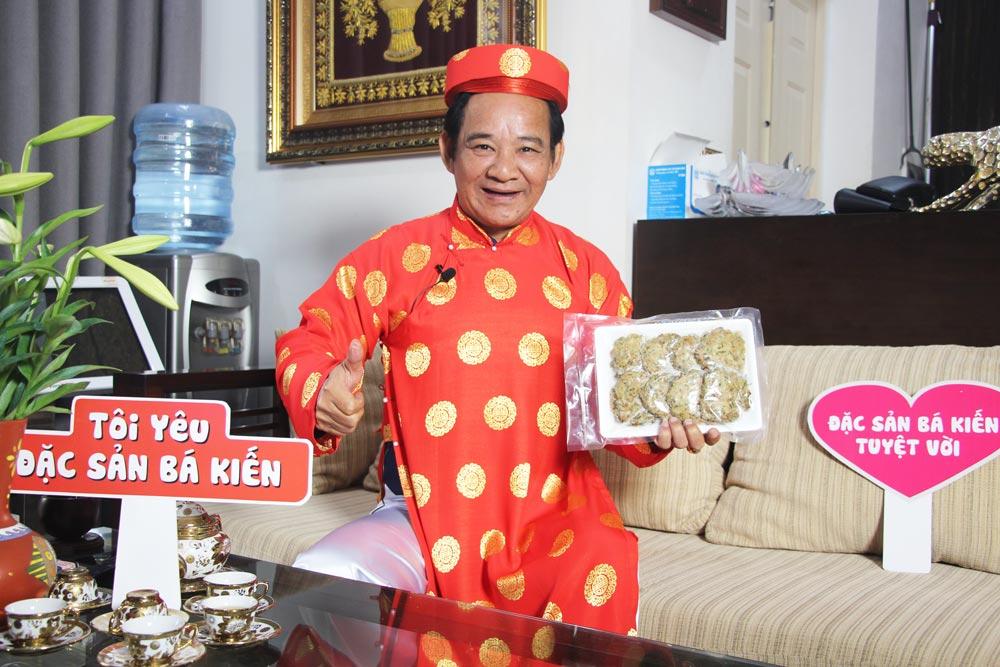 Nghệ sĩ Quang Tèo đánh giá cao chất lượng Chả rươi Bá Kiến